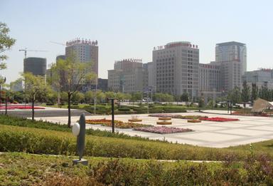 鄂尔多斯东胜区广场美化